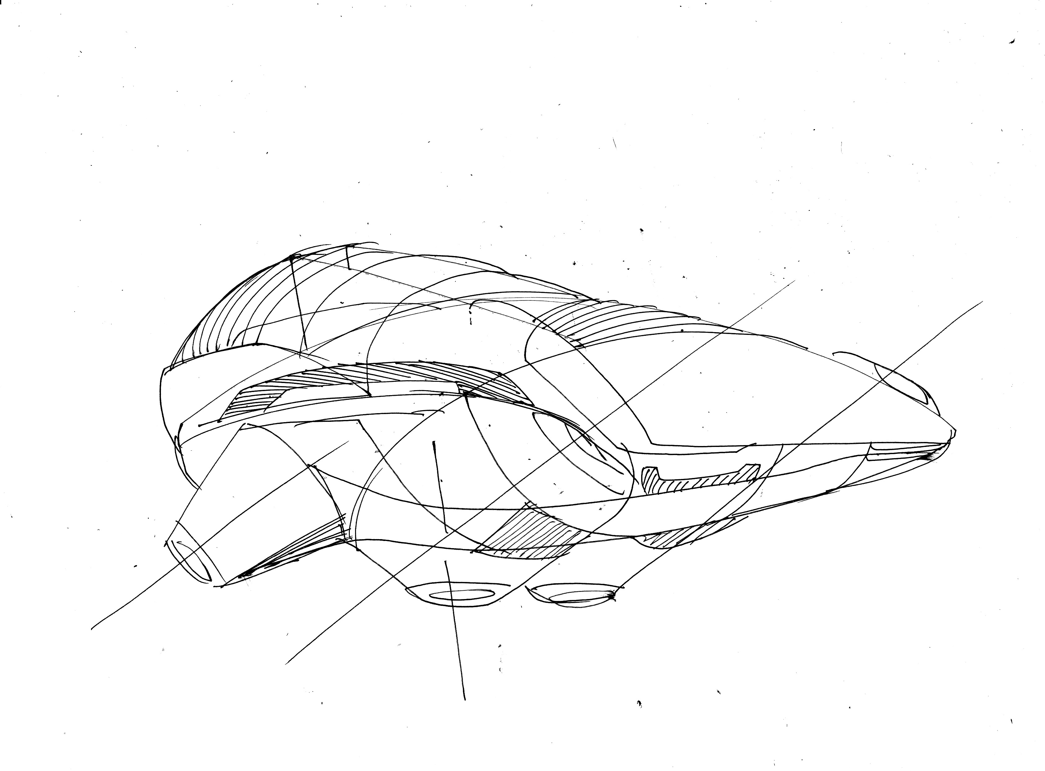 flying cars of the future drawing